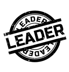 Leader rubber stamp vector
