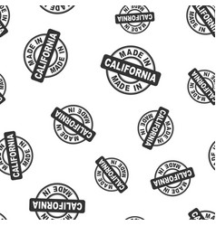 Made in california stamp seamless pattern vector