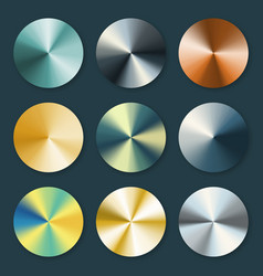 Metallic silver and gold conical metal vector