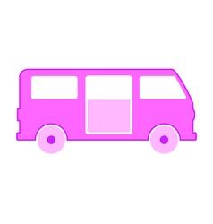 Minibus symbol icon on white vector image