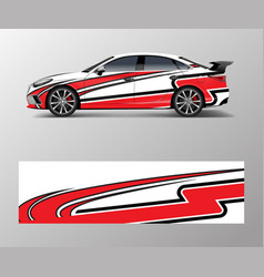modern stripe for racing car wrap sticker vector image