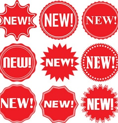 New signs set new sticker set vector