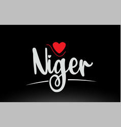 niger country text typography logo icon design on vector image