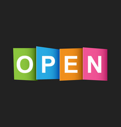 open tag market message flat on black background vector image