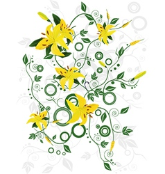 Ornament with flowers vector image