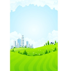 park and city vector image vector image