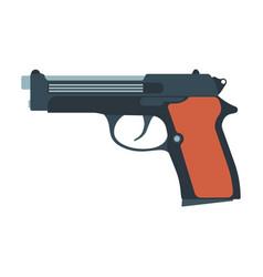 pistol gun revolver handgun weapon western vector image