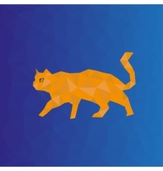Polygonal cat vector