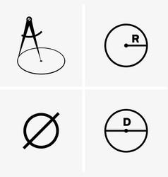 Radius and diameter vector