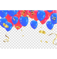 Red and blue balloons celebration background vector