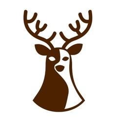 Reindeer deer silhouette icon vector
