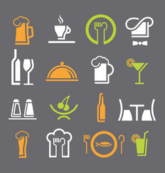 restaurant icon color vector image