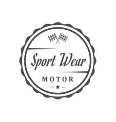 Retro sport wear vector