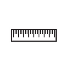 ruler icon design template isolated vector image