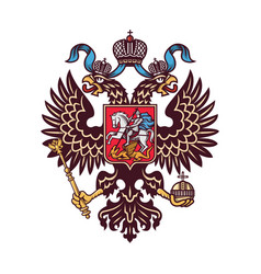 russian coat arms logo isolated vector image