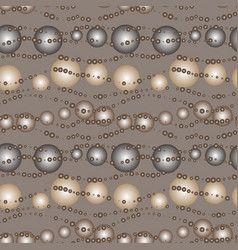 Seamless gradient bubble coffee pattern vector