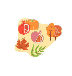 Seasonal harvest flat concept with abstract shapes vector