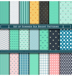 set summer pattern vector image