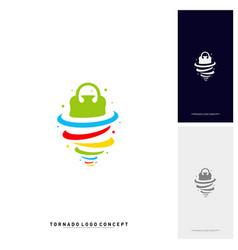shopping logo design concept storm sale logo vector image