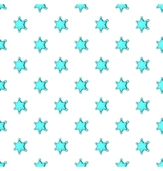 Six pointed star pattern cartoon style vector