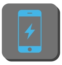 Smartphone Electricity Rounded Square Button vector