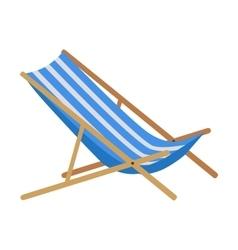 Summer Beach Sunbed Lounger vector image