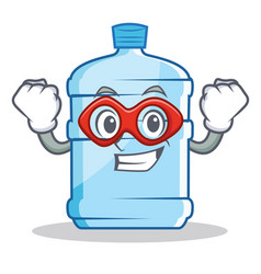 Super hero gallon character cartoon style vector