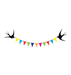 Swallows and bunting vector