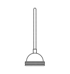 toilet pump in monochrome dotted silhouette vector image