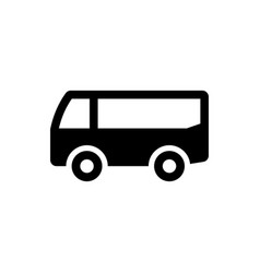 Travel bus icon vector