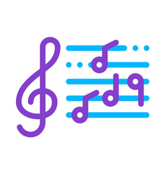 treble clef and musical notes opera element vector image