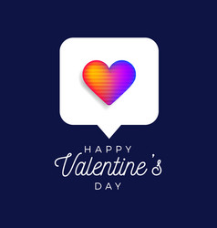 valentine rainbow heart like counter symbol vector image