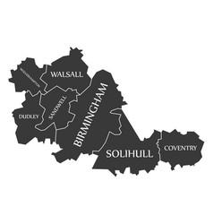 West midlands metropolitan county england uk vector