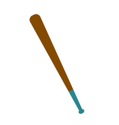 Wooden baseball bat cartoon vector