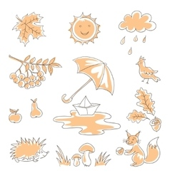 Autumn Silhouettes vector image vector image