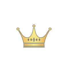 Crown computer symbol vector image vector image