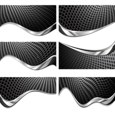 Metal texture perforated vector image