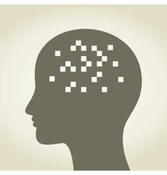 Pixel in a head vector image vector image