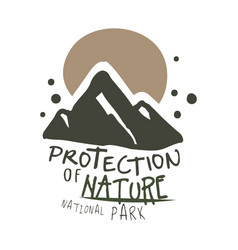 protection of nature national park design template vector image vector image