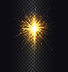 sparkler on stick poster vector image