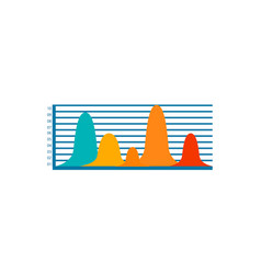 colorful bar graph icon vector image vector image