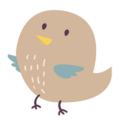 cute bird cartoon colorful vector image vector image