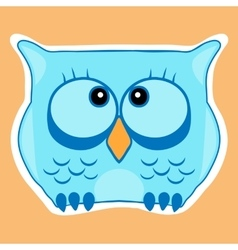 Funny cute animal owl Owl vector image