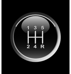 gear stick vector image