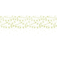 Green Textile Party Bunting Horizontal Seamless vector image vector image