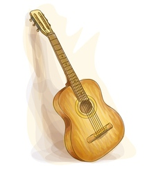 guitar watercolor style vector image vector image
