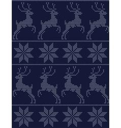 scandinavian seamless pattern blue vector image