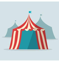 Vintage circus tent flat design vector image