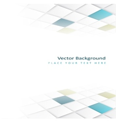 Abstract perspective background with square tiles vector image