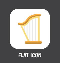 of mp3 symbol on harp flat vector image